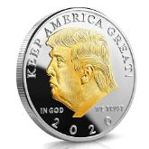 Gold Plated Trump 2020 Coin